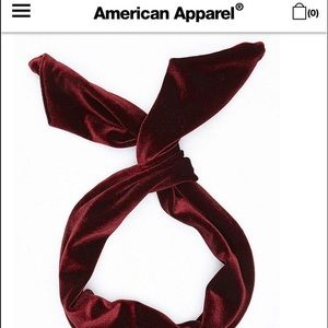 AA Dark Brown Velvet Twist Headband